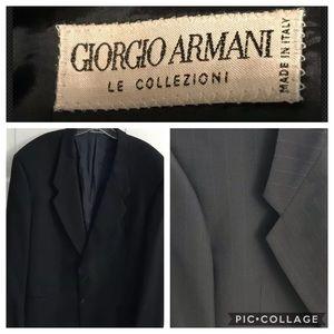 Giorgio Armani Le Collezioni Black Blazer Men 44R